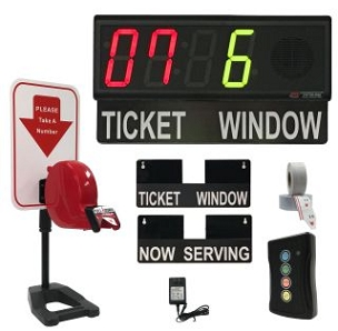 BRG's Take-A-Number System w/ Counter Top Stand Ticket Dispenser