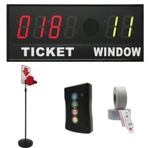 BRG's Take-A-Number System w/ Floor Stand Ticket Dispenser, 6-Digit, 4 in. Display