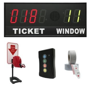 BRG's Take-A-Number System w/Countertop Stand Ticket Dispenser, 6-Digit, 4 in. Display