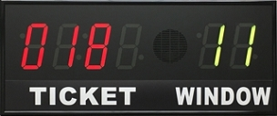 BRGQ64 Secondary Take-A-Ticket LED Display