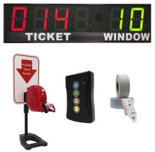 BRG's Take-A-Number System w/ Countertop Stand Ticket Dispenser, 6-Digit, 8 in. Display