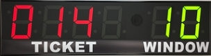 BRGQ68 Secondary Take-A-Ticket LED Display