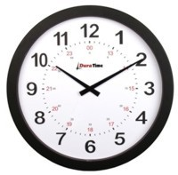 DuraTime LifeTime 15 in. Black Analog Clock, Battery Operated
