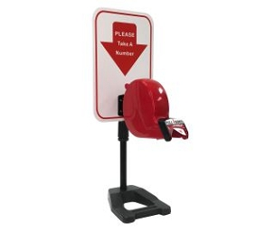 Ticket Dispenser with Adjustable Countertop Stand